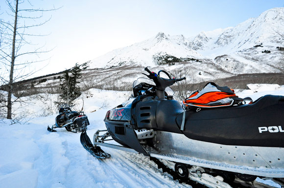 snowmobile in alaska