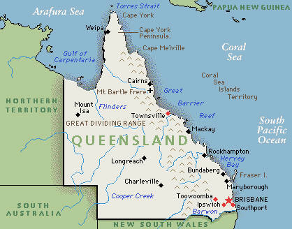 Tourism Queensland - Map of Queensland