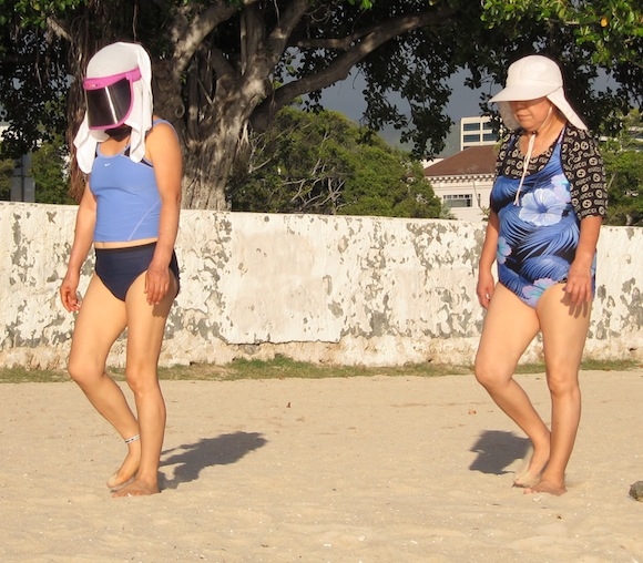 travel fashion trends visor bathingsuit