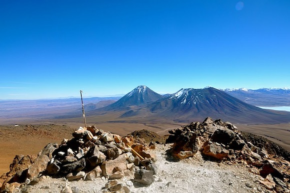 El Toco is a Chilean Volcano over 18,600 feet in height.