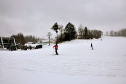 Skiers hit the slopes after heavy snows