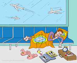 Online travel resources, like sleeping in airports, help make travel easier and cheaper.