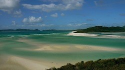 Whitehaven Beach in the Whitsunday Islands, Australia