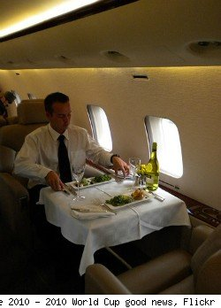 private jet dining