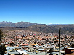 view of potosi from cerro rico